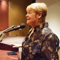 Jill at Podium